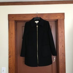 Michael Kors Zip Front  Coat With Pach packets